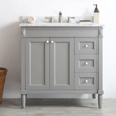 Morris 36 Single Vanity Set Base Finish: Grey