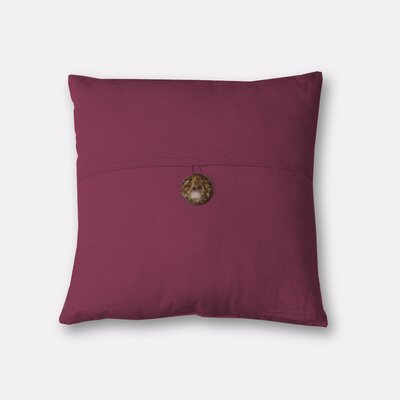 Mullins Essex Button Throw Pillow Color: Aubergine