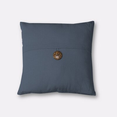 Mullins Essex Button Throw Pillow Color: Blue