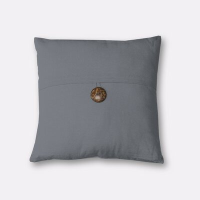 Mullins Essex Button Decorative Throw Pillow Color: Gray
