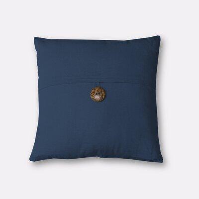 Mullins Essex Button Decorative Throw Pillow Color: Indigo