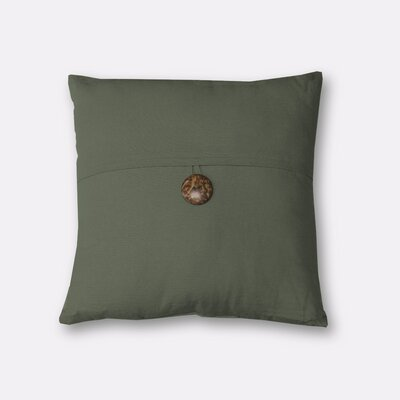Mullins Essex Button Throw Pillow Color: Twig