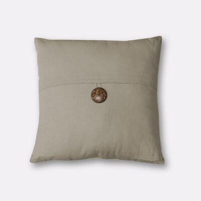 Mullins Essex Button Throw Pillow Color: Wheat