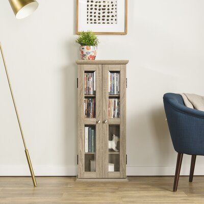 Double Doors Wood Multimedia Cabinet Finish: Driftwood
