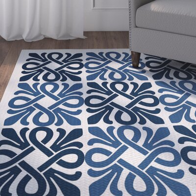 Selina Blue Indoor/Outdoor Area Rug Rug Size: 2 x 3