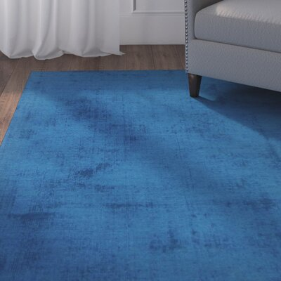 Milford Blue Area Rug Rug Size: Rectangle 8 x 10