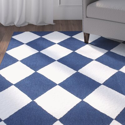 Silas Blue Area Rug Rug Size: Rectangle 76 x 96
