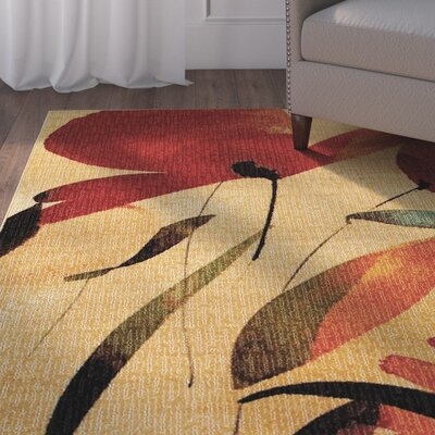 Beaumont Tan/Red Area Rug