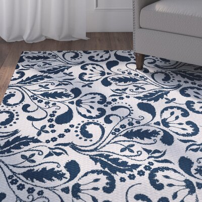Rushton Blue Indoor/Outdoor Area Rug Rug Size: 5 x 7