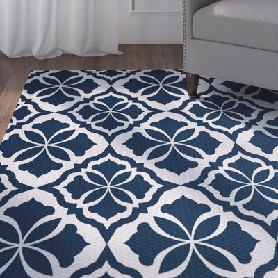 Murdock Blue Indoor/Outdoor Area Rug Rug Size: 4 x 6