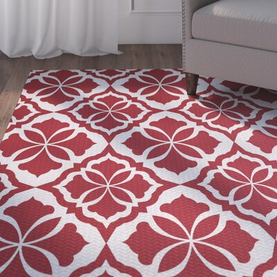 Murdock Red Indoor/Outdoor Area Rug Rug Size: Rectangle 2' x 3'