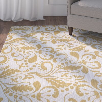 Rushton Yellow Indoor/Outdoor Area Rug Rug Size: 2 x 3