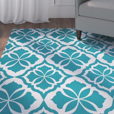 Murdock Turquoise Indoor/Outdoor Area Rug Rug Size: Rectangle 2 x 3