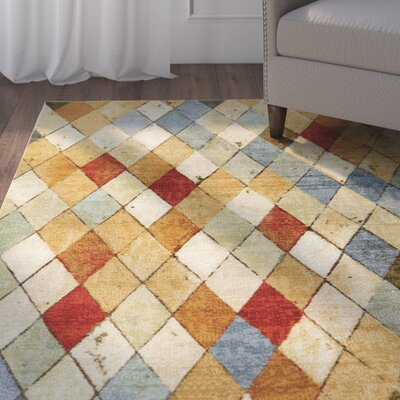 Wilfred Tan Area Rug Rug Size: 5 x 8