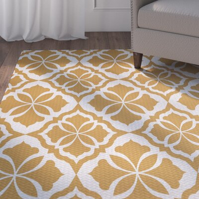Murdock Yellow Indoor/Outdoor Area Rug Rug Size: 4 x 6
