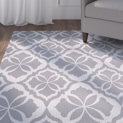 Murdock Gray Indoor/Outdoor Area Rug Rug Size: 2 x 3
