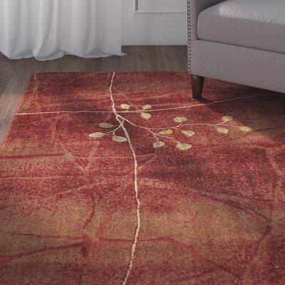 Alderbrook Flame Area Rug Rug Size: 53 x 75