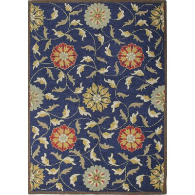 Clarkshire Navy Area Rug Rug Size: Rectangle 76 x 96