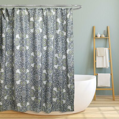 Farnsworth Geometric Paisley Floral Shower Curtain