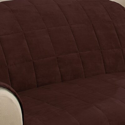 Duvig Armchair Box Cushion Slipcover Upholstery: Chocolate