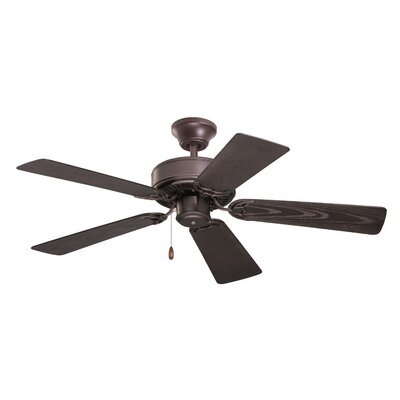 42 Westville 5 Blade Ceiling Fan Finish: Oil Rubbed Bronze