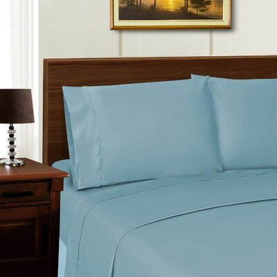 Cullen Retangle Pillowcase Color: Blue, Size: King
