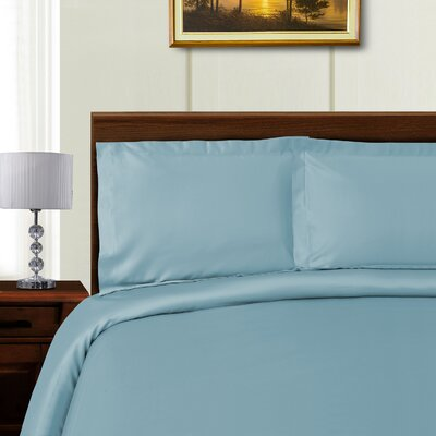 Cullen 3 Piece Duvet Set Color: Blue, Size: King