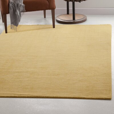 Loring Hand-Tufted Yellow Area Rug Rug Size: 5 x 8