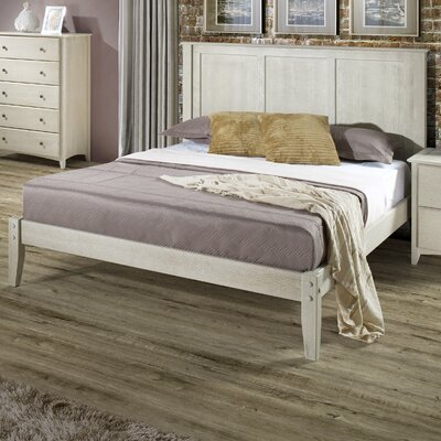 Van Houzen Platform Bed Finish: Weathered White, Size: Queen