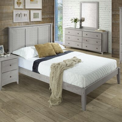 Van Houzen Platform Bed Finish: Weathered Gray, Size: Queen