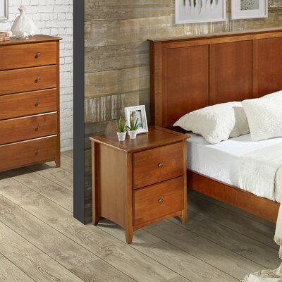 Avalon 2 Drawer Nightstand Finish: Cherry