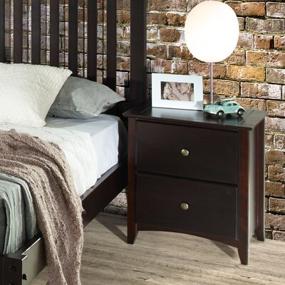 Avalon 2 Drawer Nightstand Color: Cappuccino