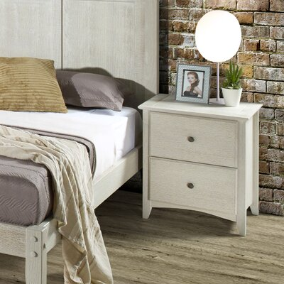 Avalon 2 Drawer Nightstand Finish: Weathered White