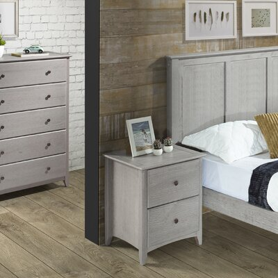 Avalon 2 Drawer Nightstand Color: Weathered Gray