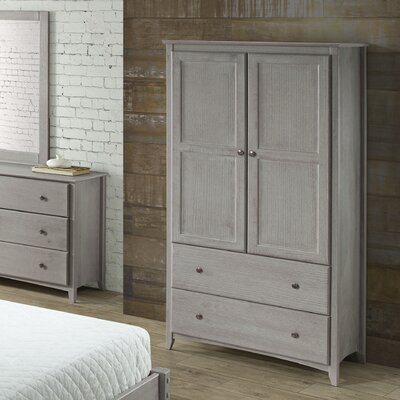 Avila 2 Door and 2 Drawer Armoire Finish: Weathered Gray