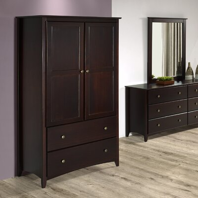 Avila 2 Door and 2 Drawer Armoire Finish: Cappuccino