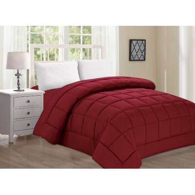 Polyester All Season Down Alternative Comforter Color: Turqouise, Size: Queen