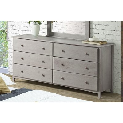 Axelrod 6 Drawer Double Dresser Color: Weathered Gray