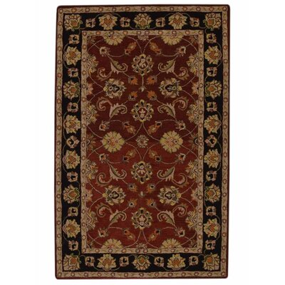 Morgenstern Vintage Hand-Tufted Wool Red/Brown Area Rug Rug Size: 5 x 8