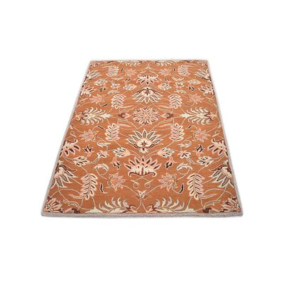 Crane Hand-Tufted Wool Orange Area Rug Rug Size: 9 x 12