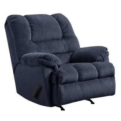 Merion Rocker Recliner Type: Manual, Upholstery: Blue