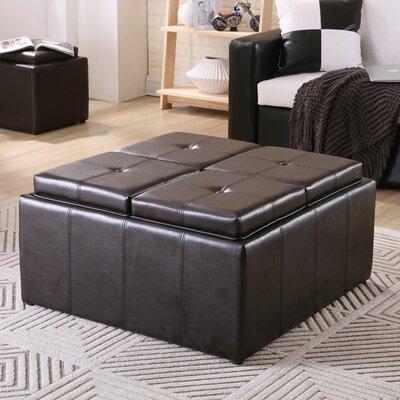 Bryan Storage Ottoman Upholstery Color: Black