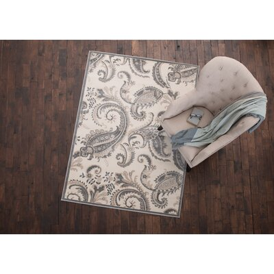 Wallingford Paisley Cream Area Rug Rug Size: 53 x 73