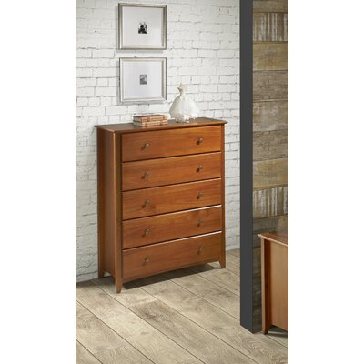 White Bluffs 5 Drawer Chest Color: Cherry