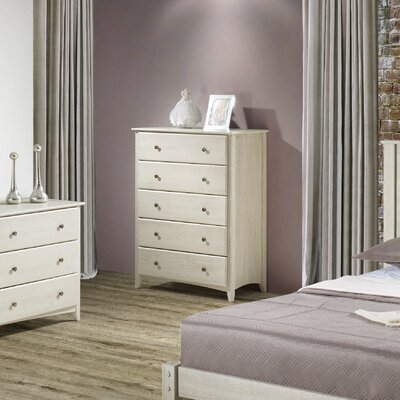 White Bluffs 5 Drawer Chest Color: Weathered White