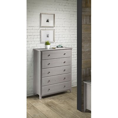 White Bluffs 5 Drawer Chest Color: Weathered Gray