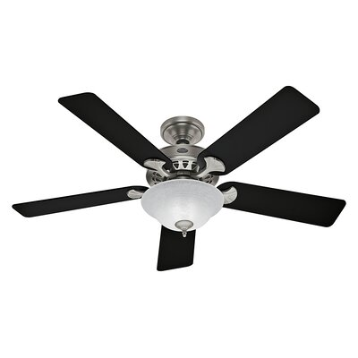 52 Sonora 5 Reversible Blade Ceiling Fan Finish: Antique Pewter with Black/Cherry Blades