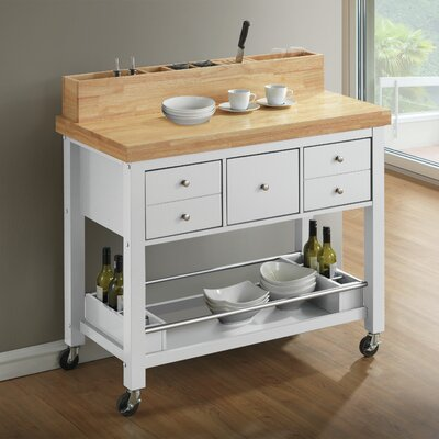 Iron Horse Kitchen Island Base Finish: White