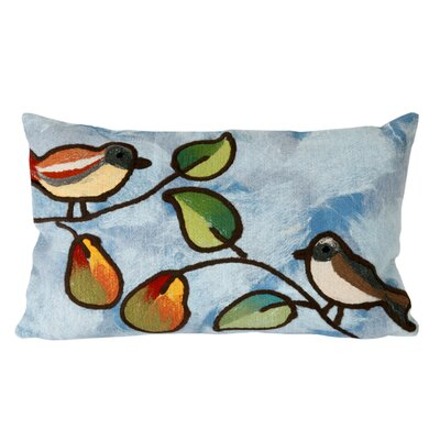 Nunnally Song Birds Outdoor Lumbar Pillow Color: Blue