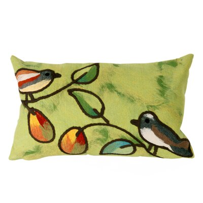 Nunnally Song Birds Outdoor Lumbar Pillow Color: Green